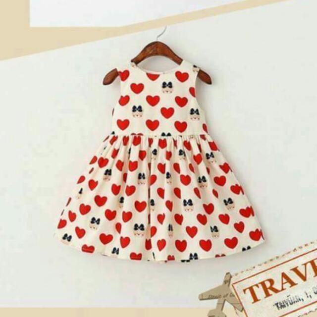 可愛愛心洋裝