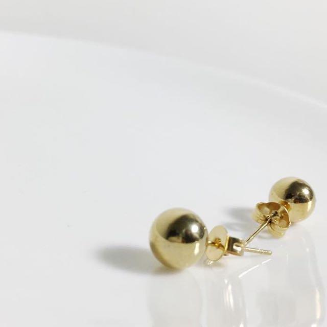 全新小金球耳環