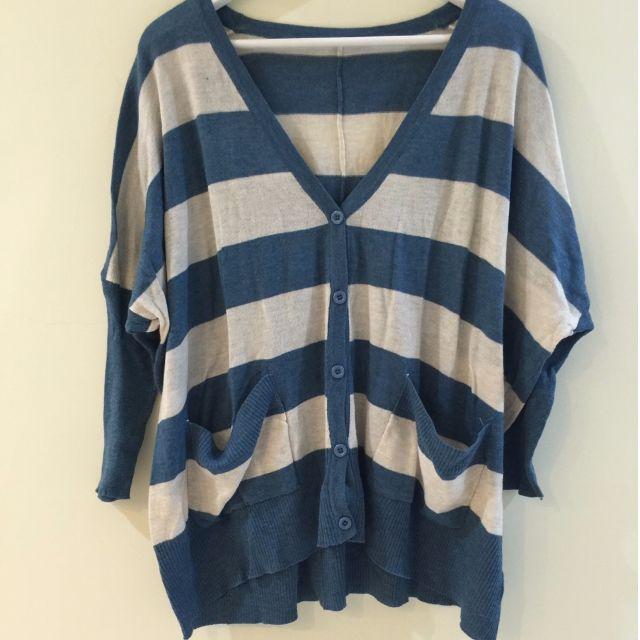全新商品 ♥ 條紋配色罩衫/上衣