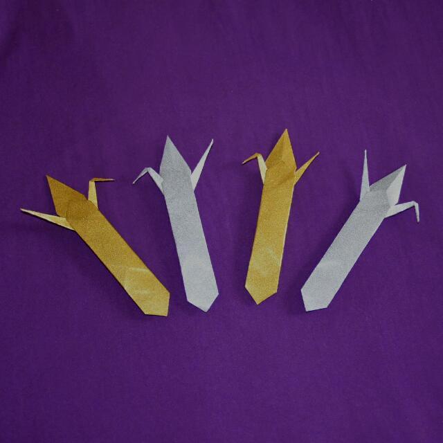 🔖 Good Luck Origami Crane Bookmark, Design & Craft On Carousell