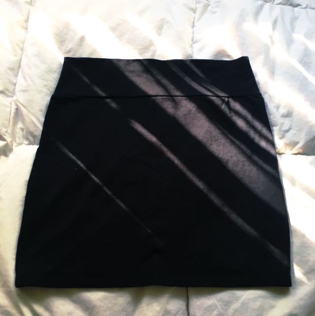 ✨ Plain Black Cotton On Skirt