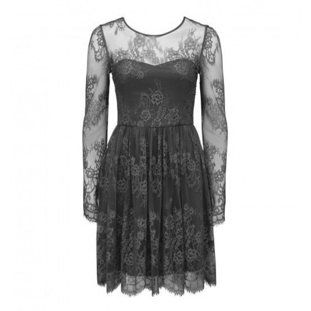 Alana Long Sleeve Lace Skater Dress