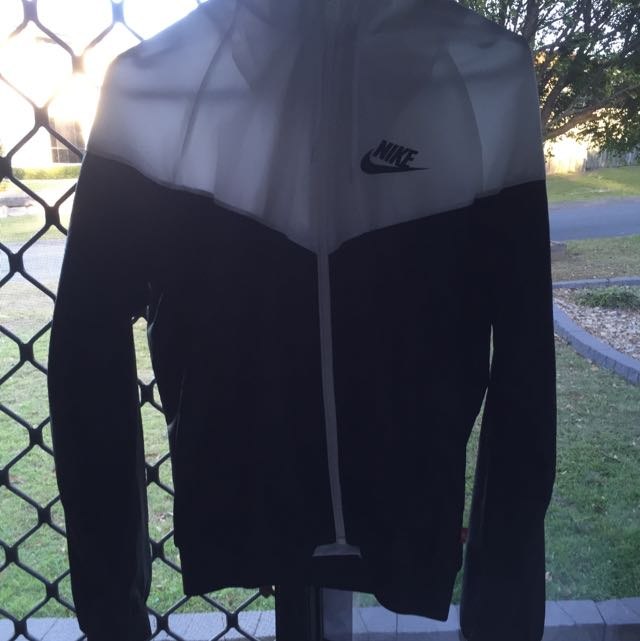 Black And White Nike Windproof