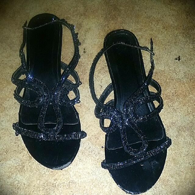 Black Beaded Shoes