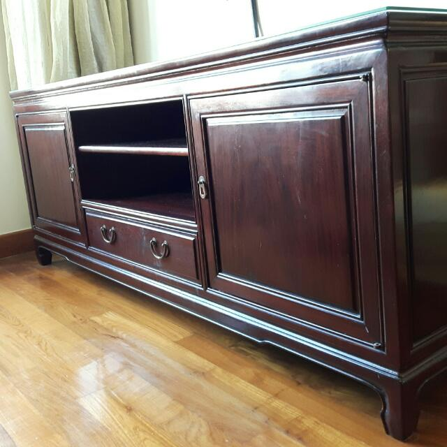 promo code 44cb9 ee3de Chinese Rosewood TV Cabinet, Furniture on Carousell