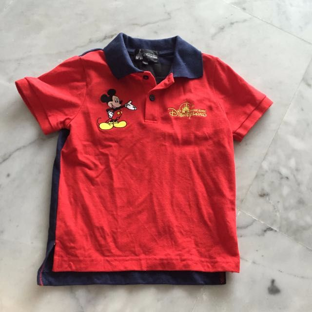 Disneyland Mickey Mouse Polo Tee Disney Hongkong