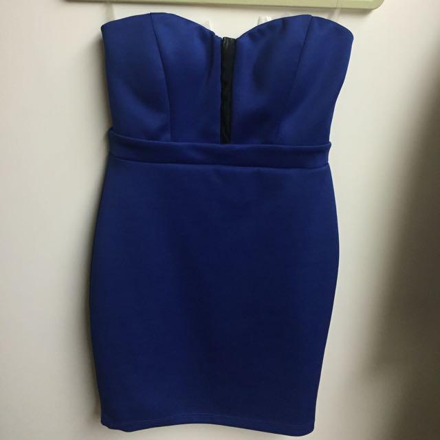 全新✨Foreign Exchange 寶藍色小禮服