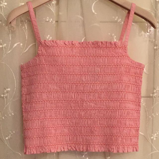 GAP KIDS 俏麗粉色迷人細肩帶背心上衣