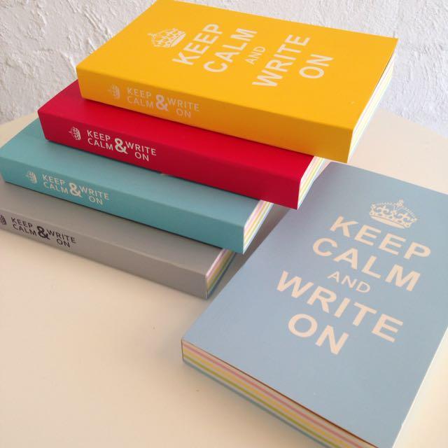 Keep Calm & Write On Notebook
