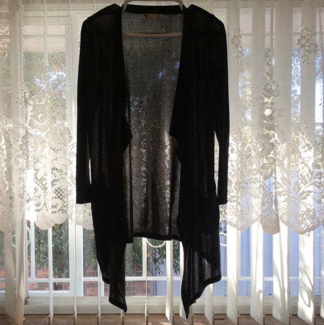 Long Black TEMT Cardigan