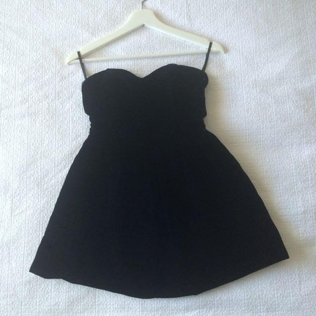 M Black Velvet Vintage Bodice Top