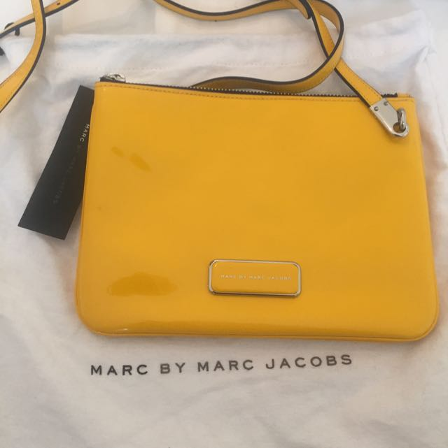 Marc By Marc Jacobs Patent Yellow Satchel