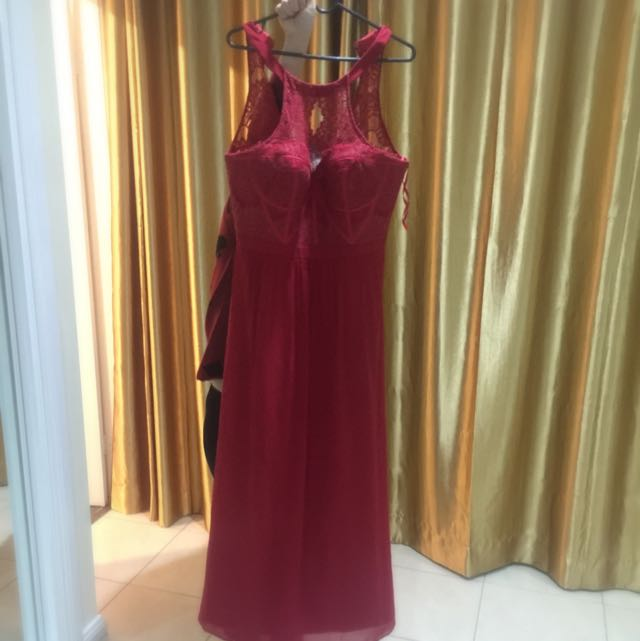 Near New Red Bariano Dress For Sell! Comes With Storage Bag