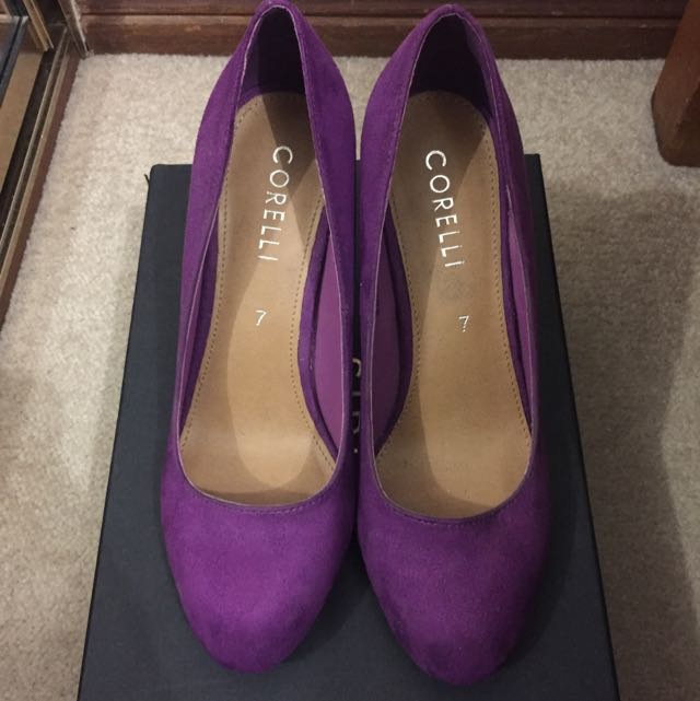 [new] Purple Suede Pumps - Size 7