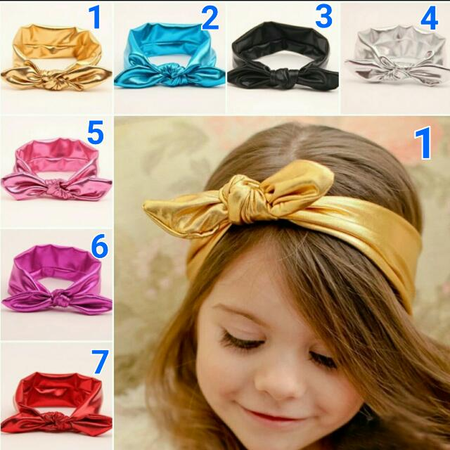 New Style Baby Girls Stretchable Elastic Rabbit Ear Turban Knot Bow Hairband Babies Kids On Carousell
