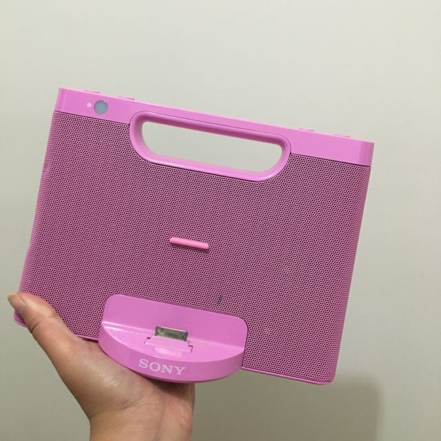 Pink Sony Speaker (4th Generation Apple Only)