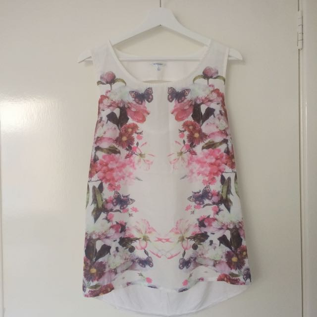 Size 12 Mirrored Print Top