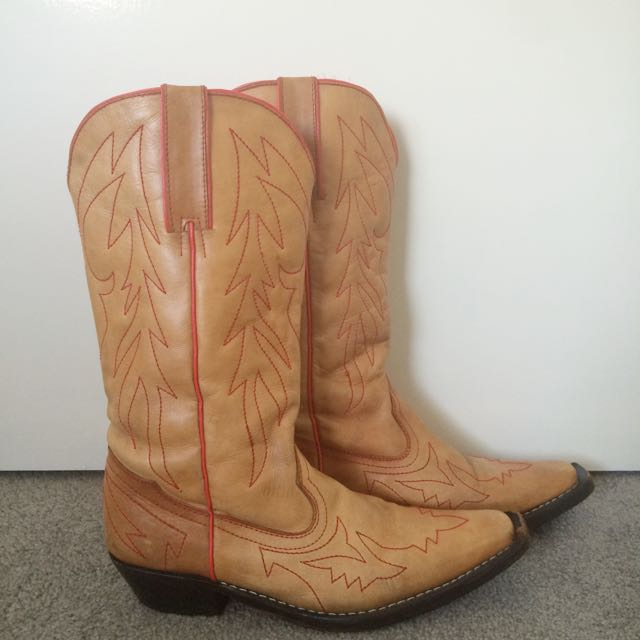 Size 41 Leather Cowboy Boots