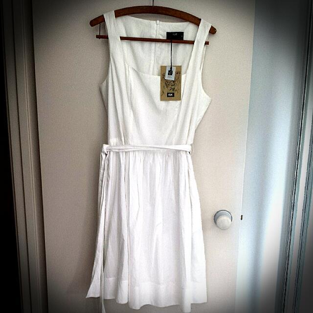 Stunning Pure White CUE Dress