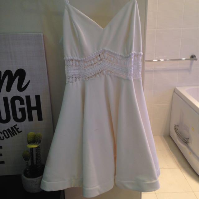 White Dress Size 10