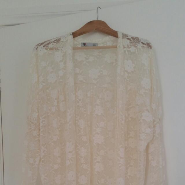 Women's Cream Lace Top