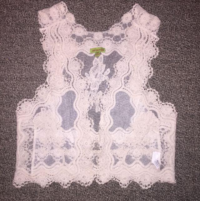 Womens Size Small Crochet Vest