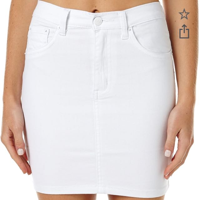Ziggy White Denim Skirt