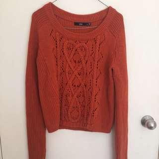 Sportsgirl Orange Knit Jumper