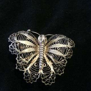 Vintage fine Sterling Silver Butterfly