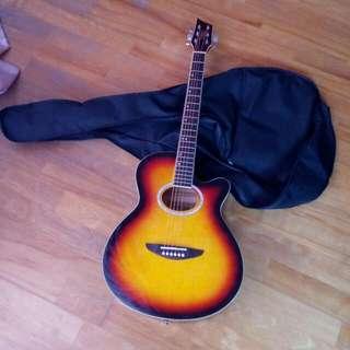 含教學書+袋子 吉他 二手 可小議