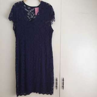 Laced Midnight Blue Cocktail Dress