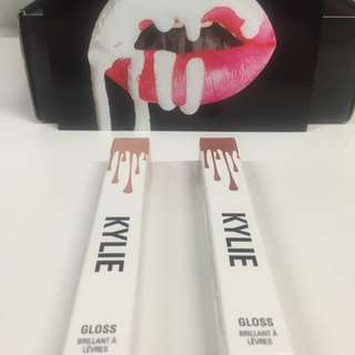 2 X KYLIE Cosmetics Lip Glosses - Brand New - Genuine - SOLD OUT ONLINE !!