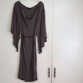 Drapped Cowneck Dress