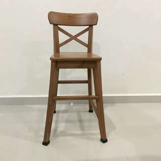 IKEA High Solid Wood High Chair