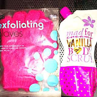 New Exfoliating Gloves And Body Wash