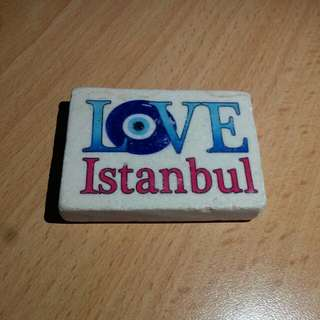 Love Istanbul Marble Fridge Magnet