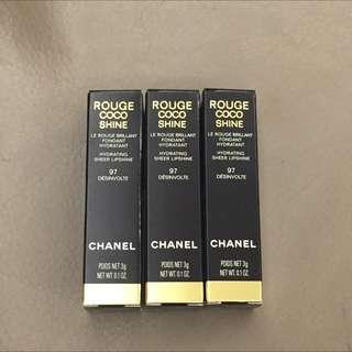 🚚 * Sukena * 現貨2支 Chanel Rouge CoCo Shine  #97 水亮唇膏 Melody 推薦