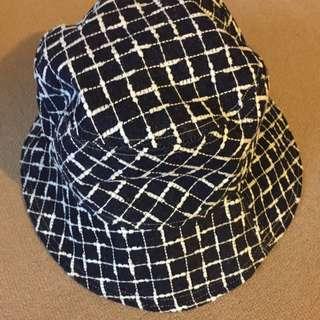 格紋 文青漁夫帽