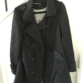 Black Trench Coat Size 10 (Paper Scissors)