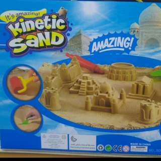 3 Different Sets Of Kinetic Sand