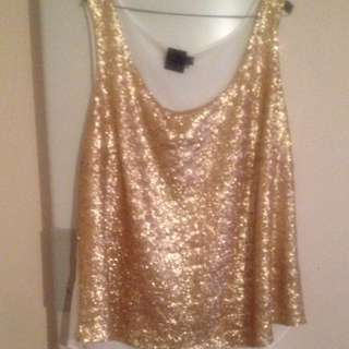 Asos Gold Sequin Top