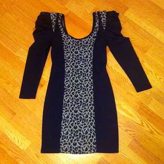 Size 8 Black Fitted Dress