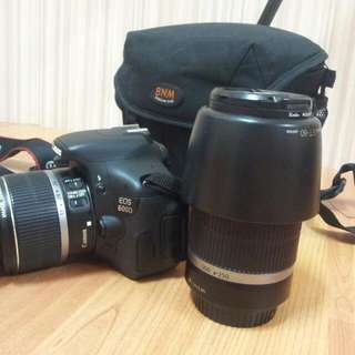 Canon 600d With Two Lenses 18-55 /55-250mm