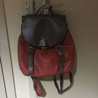 AUTHENTIC DIMA BORSA Leather Backpack Ahidima collection
