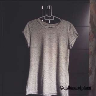 h&m basic grey shirt (pending)