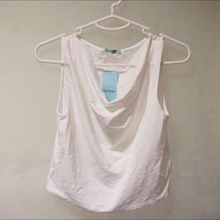 Kookai Cropped White Top