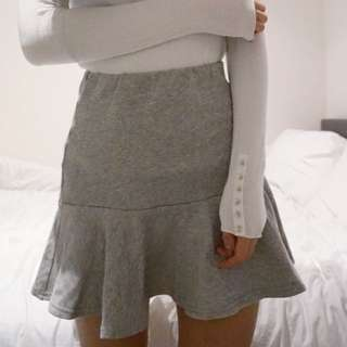 The Fifth Grey Frill Skirt