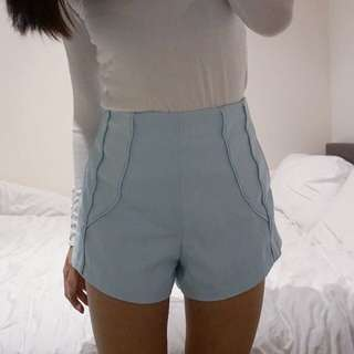 Finders Keepers Pale Blue Shorts