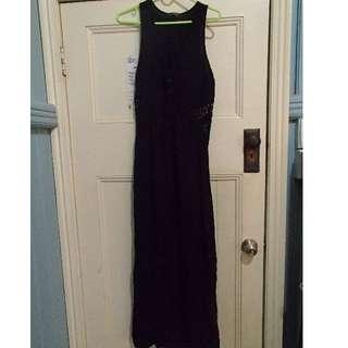 Glassons black filigree maxi dress