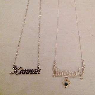 "2 ""Hannah"" Necklaces"